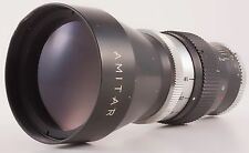 "AMITAR 3"" 75mm F/1.9 C-MOUNT TELEPHOTO LENS FOR 16mm FORMAT MADE IN JAPAN"