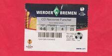 Orig.Ticket  Europa League 2009/10  WERDER BREMEN - NACIONAL FUNCHAL  !!  SELTEN