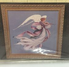 Lavender & Lace Angel of Spring Cross Stitch Pattern Victorian Design Violin New