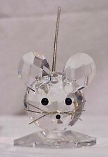 SWAROVSKI CRYSTAL MOUSE MEDIUM 010025 MINT BOXED RETIRED RARE