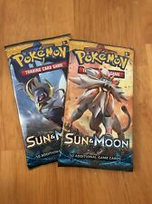 Pokemon Sun & Moon - booster packs X2 RANDOM ARTWORK - NEW & SEALED