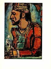 "1977 Vintage ROUAULT ""THE OLD KING"" COLOR offset Lithograph"