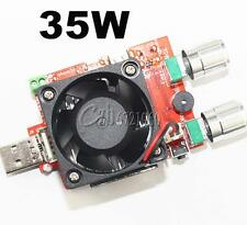 4A 35W Adjustable USB Electronic Load Battery Discharge Capacity Tester Fan