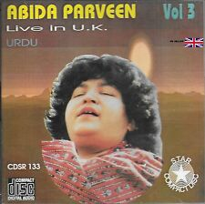 ABIDA PARVEEN - LIVE IN U.K URDU - VOL 3 CD - FREE UK POST