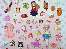 Kawaii girl stickers! Cute Japanese lolita fashion anime girls clothing, mermaid