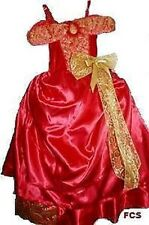 BARBIE RED 5-6 Ballgown Fancy dress Party costume Fairy Tale Gift book wk Disney