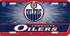 Edmonton Oilers Plastic License Plate FREE SHIPPING NHL Wincraft - Design 1