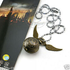 Harry Potter Golden Snitch Exquisite Retro Necklace Watch Pendant Hangings Gifts