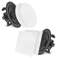 "NEW Pyle PDIC86 PAIR of 8.0"" In-Wall/In-Ceiling Speakers 250W 2-Way Flush Mount"