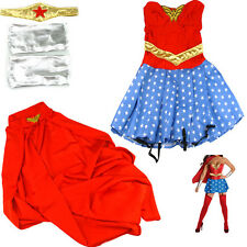Wonder Woman Superwoman Halloween Costume Super Girl Superhero Sexy Dress