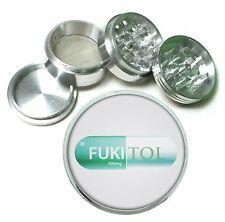 Fukitol Prescrption Pill Funny D12 Metal Silver Aluminum Grinder 4pc 63mm Herb