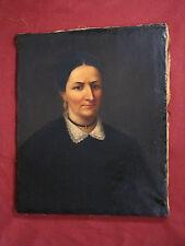 Antikes Ölgemälde, Portrait einer vornehmen Dame, Biedermeier, um 1830-40