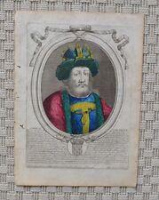 Gravure Originale XVIIème par Nicolas Ier de Larmessin - Louis le Bègue