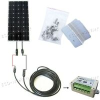 160 Watt Off Grid COMPLETE KIT: 160W PV Mono Solar Panel 12V RV Battery Charger