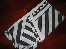 VINTAGE KATJA BLACK CHECKER BOARD GRAY ANGLE STRIPE  FULL FLAT SHEET U.S.A.