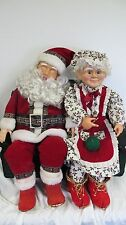 VINTAGE ANIMATED MUSICAL CHRISTMAS DISPLAY LARGE  RARE SANTA MRS CLAUS ON COUCH