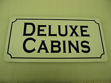 Vintage Style Retro DELUXE CABINS Metal Sign for Highway Hotel Motel HWY