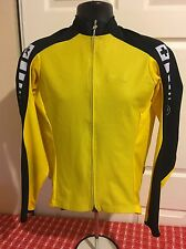 Assos Intermediate EVO Long Sleeve Yellow Cycling Jersey Size L