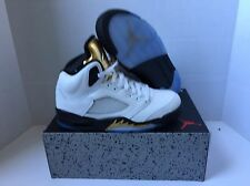New Nike Air Jordan V Retro 5 Olympic Gold Medal Black White 136027-133 Men's 17