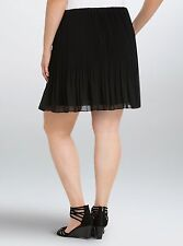 Torrid Black Pleated Chiffon Mini Skirt Size: 0 10 0X Medium Large #5810