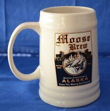 Moose Brew Alaska Mating Call Ceramic Beer Stein Mug