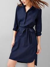 NWT GAP Belted popover shirtdress, true indigo SZ MT M T
