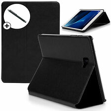 Black Clam Shell Smart Case Cover Samsung Galaxy Tab A 10.1 SM-T580 + Stylus