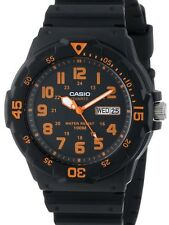 Casio Original New MRW-200H-4BV Orange Analog Mens Watch 100m WR MRW-200 MRW200