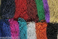 Mardi Gras Beads Pick Your Team Color Necklaces 6 Dozen (72 pcs) Wholesale Lot