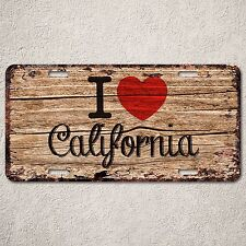 LP288 I Love California Wood Vintage Auto Car License Plate Wedding Decor Sign