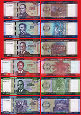 LIBERIA FULL NEW SET 10 20 50 100 & 500 Dollars dolares 2016 (2017) Serie AA UNC