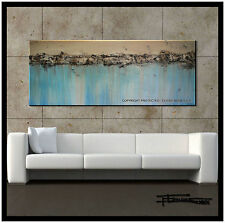 ABSTRACT  PAINTING Modern CANVAS WALL ART 60x24 Large Signed US   ELOISExxx