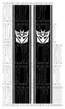 DECEPTICONS TRANSFORMERS 4X4 Pick up L200 NAVARA VERTICLE Side stripe Vinyl F150