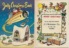 JOLLY CHRISTMAS BOOK RARE 1954 GIVEAWAY PROMO PROMOTIONAL SLICK VARIANT SANTA