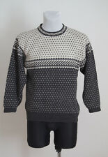 MENS NORTHERN CLASSICS JUMPER SWEATER NORDIC VINTAGE 100 % WOOL GREY XS XSMALL