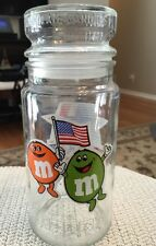 VINTAGE 1984 M&M CANDY SUMMER OLYMPIC LOS ANGELES GLASS JAR ANCHOR HOCKING