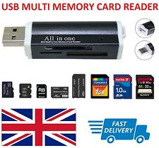 USB Multi Memory Card Reader - SD/SDHC/SDXC/Mini SD/Micro M2/MMC/XD UK Seller