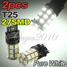 2 AMPOULE T25 W21/5W 3157 3156 7443 Lampe 5050 SMD 27 LED Spot Blanc VOITURE 12V