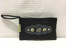 NWT About Color Beaded Clutch Black, Purse
