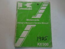 1985 Kawasaki KX500 Motorcycle Owners & Service Manual WATER DAMAGED WORN STAINS