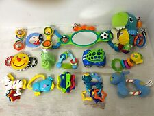 15 Baby Boy's Toys Rattles, Teethers, Crib Toy and More Lamaze, Bright Start