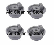 4x Dishwasher Lower Basket Rail Wheels For Bosch Neff & Siemens - Grey 00 165314
