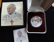 2005 1OZ FINE SILVER PROOF COOK ISL'S $1 COIN  BOX'S + COA  POPE JOHN PAUL 11