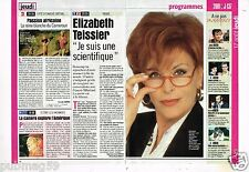 Coupure de presse Clipping 2000 (2 pages) Elizabeth Teissier