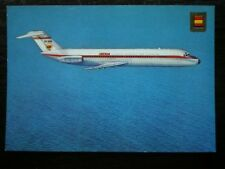 POSTCARD DOUGLAS DC9 JET OF IBERIA AIRLINES