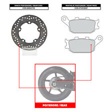 BREMBO REAR DISC (+ BRAKE PADS) - YAMAHA YZF R1 (07-14) - 68B40750