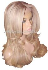 Human Hair Wig Full Lace 20 Long Light Ash Brown Blonde 9 60 Highlight Moklox UK