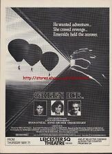 Green Ice Cinema 1981 Magazine Advert #1435
