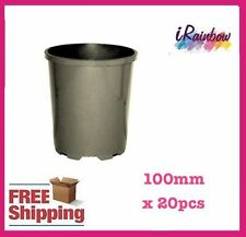 100mm Plastic Slimline Garden Pot x 20pcs - Seedling & Plant Cutting Propagation