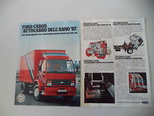 advertising Pubblicità 1982 FORD CARGO